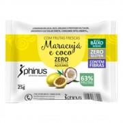 Tablete de Maracujá e Coco Zero 25g - Phinus