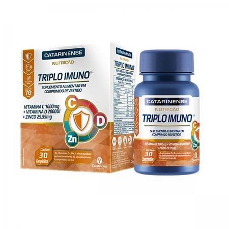 Triplo Imuno Vitamina C, D e Zinco 30 comprimidos - Catarinense