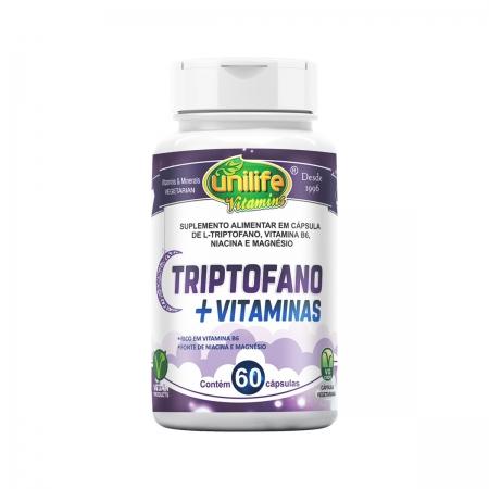 Triptofano com Vitaminas 400mg 60 Cápsulas - Unilife