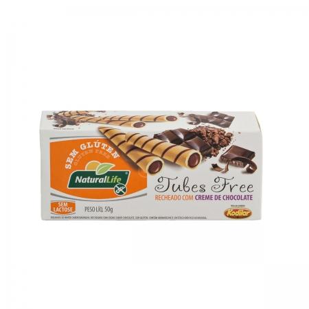 Tubes Sabor Chocolate Sem Glúten 50g  - NaturalLife