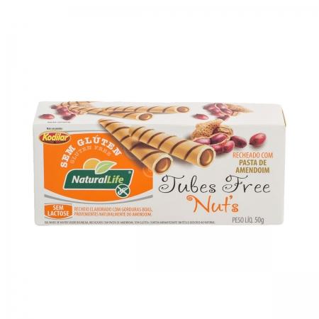 Tubes Sabor Creme de Pasta de Amendoim Sem Glúten 50g  - NaturalLife