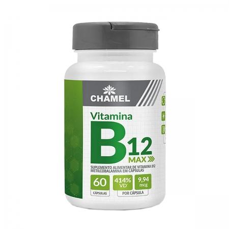 Vitamina B12 Max 500mg 60 Capsulas - Chamel