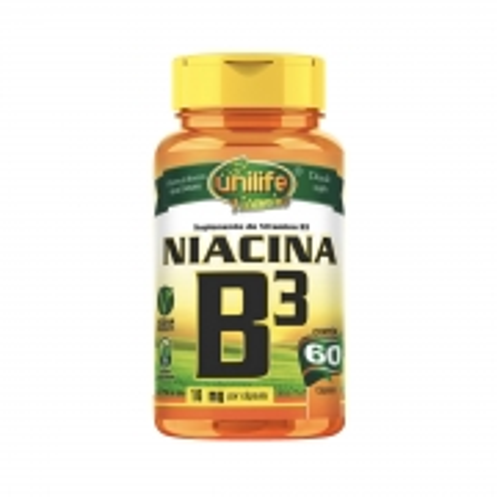 Vitamina B3 500mg 60 Cápsulas - Unilife