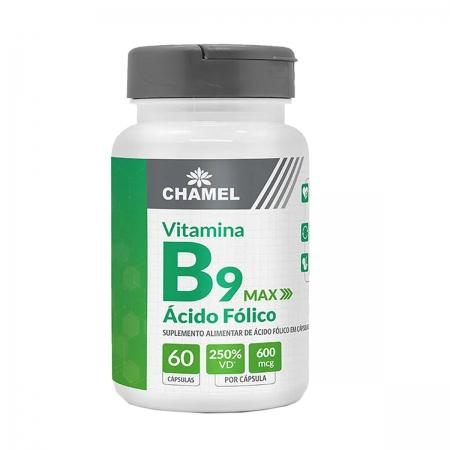 Vitamina B9 Max 500mg 60 Capsulas - Chamel