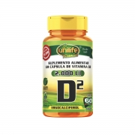 Vitamina D2 Ergocalciferol 470mg 60 Cápsulas - Unilife