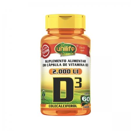 Vitamina D3 Colecalciferol 470mg 60 Cápsulas - Unilife