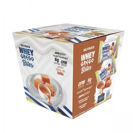 Whey Grego Bites sabor Doce de Leite Display com 15 un de 20g - Nutrata