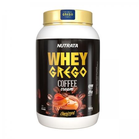 Whey Grego Coffee Cream sabor Caramel 900g - Nutrata