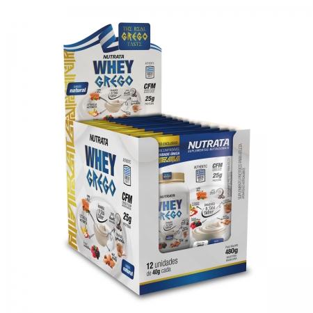 Whey Grego sabor Iogurt Natural Display 12 Sachês de 40g - Nutrata
