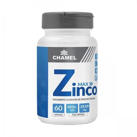 Zinco Max 500mg 60 Capsulas - Chamel