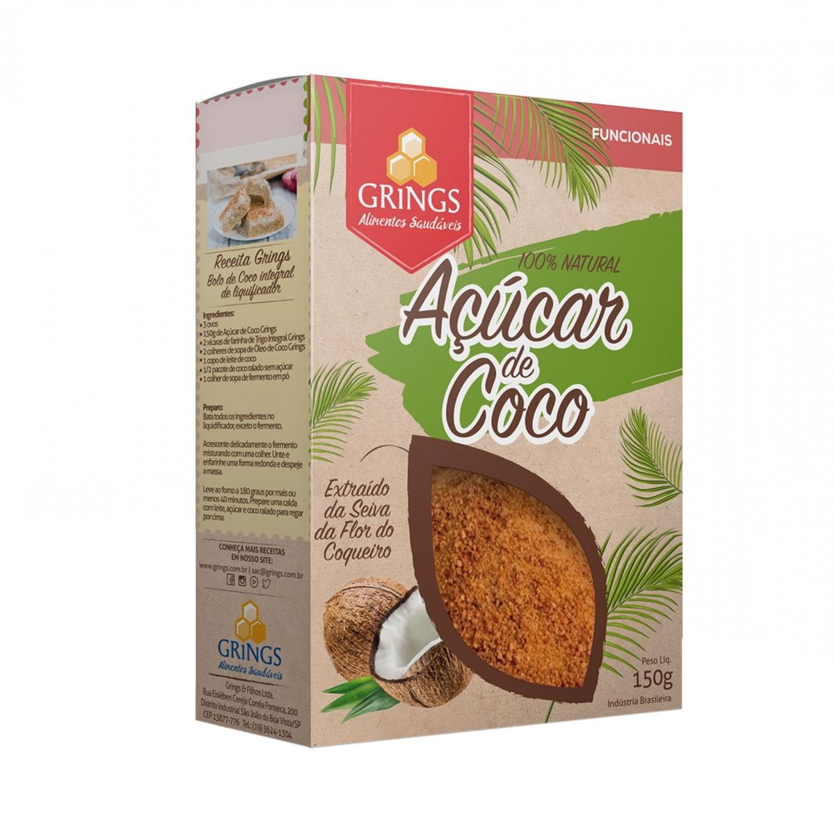 Açúcar de Coco 150g - Grings