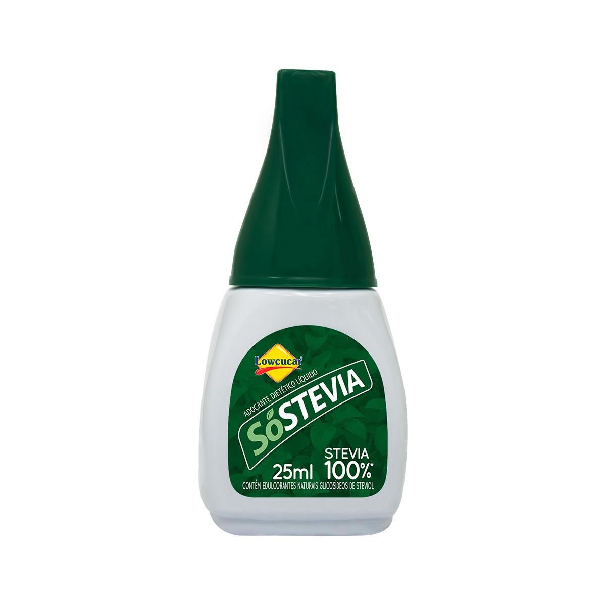 Adoçante 100% Stevia Liquido SóStevia 25ml - Lowçucar