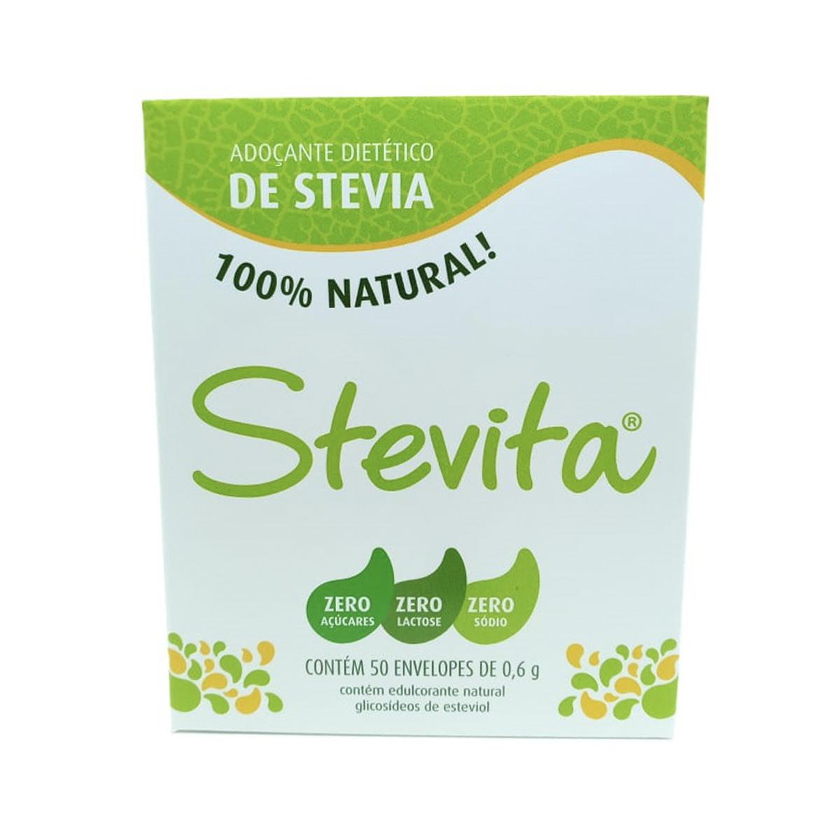 Adoçante só Stevia com 50 sachês de 0,6g - Stevita