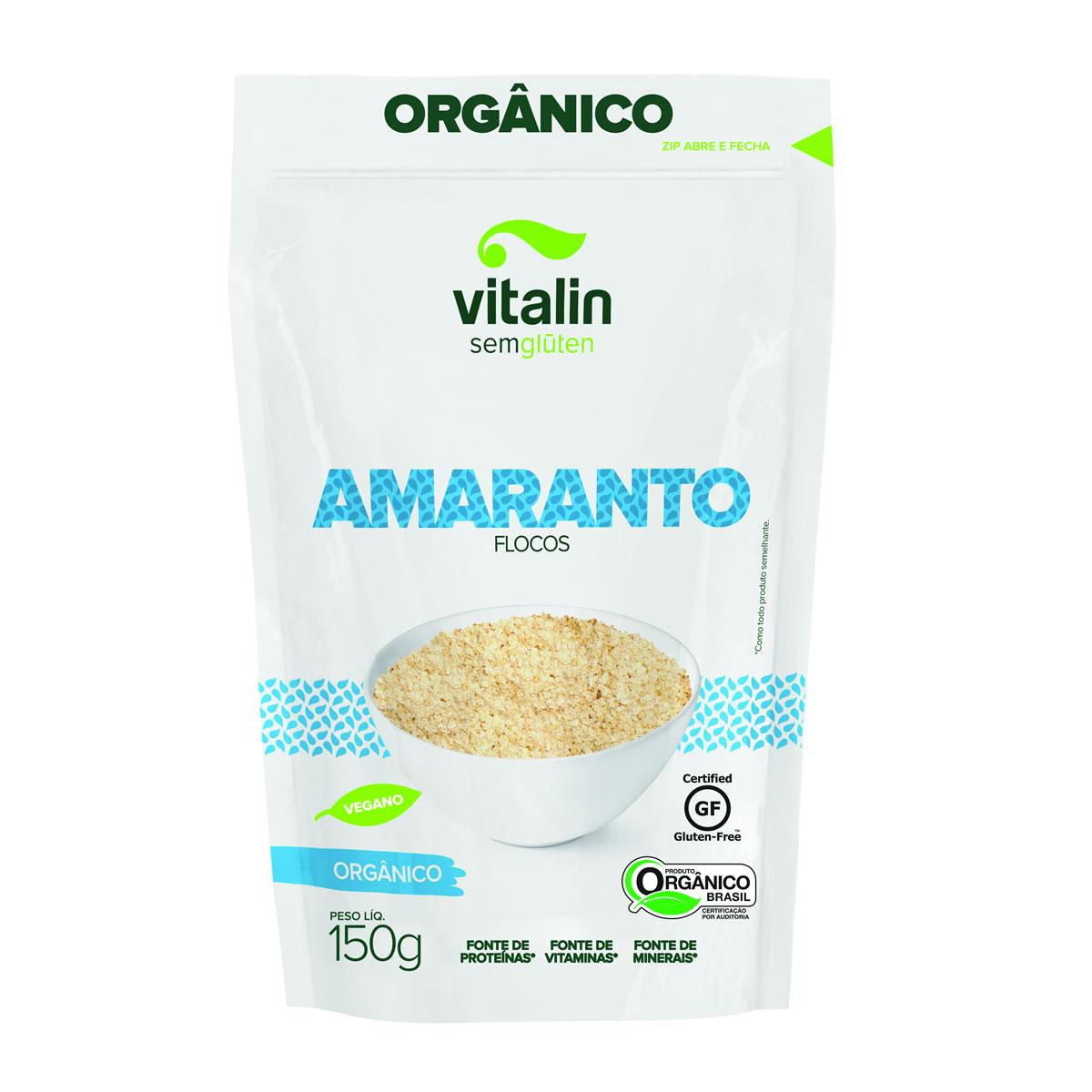 Amaranto em Flocos Orgânico 150g - Vitalin