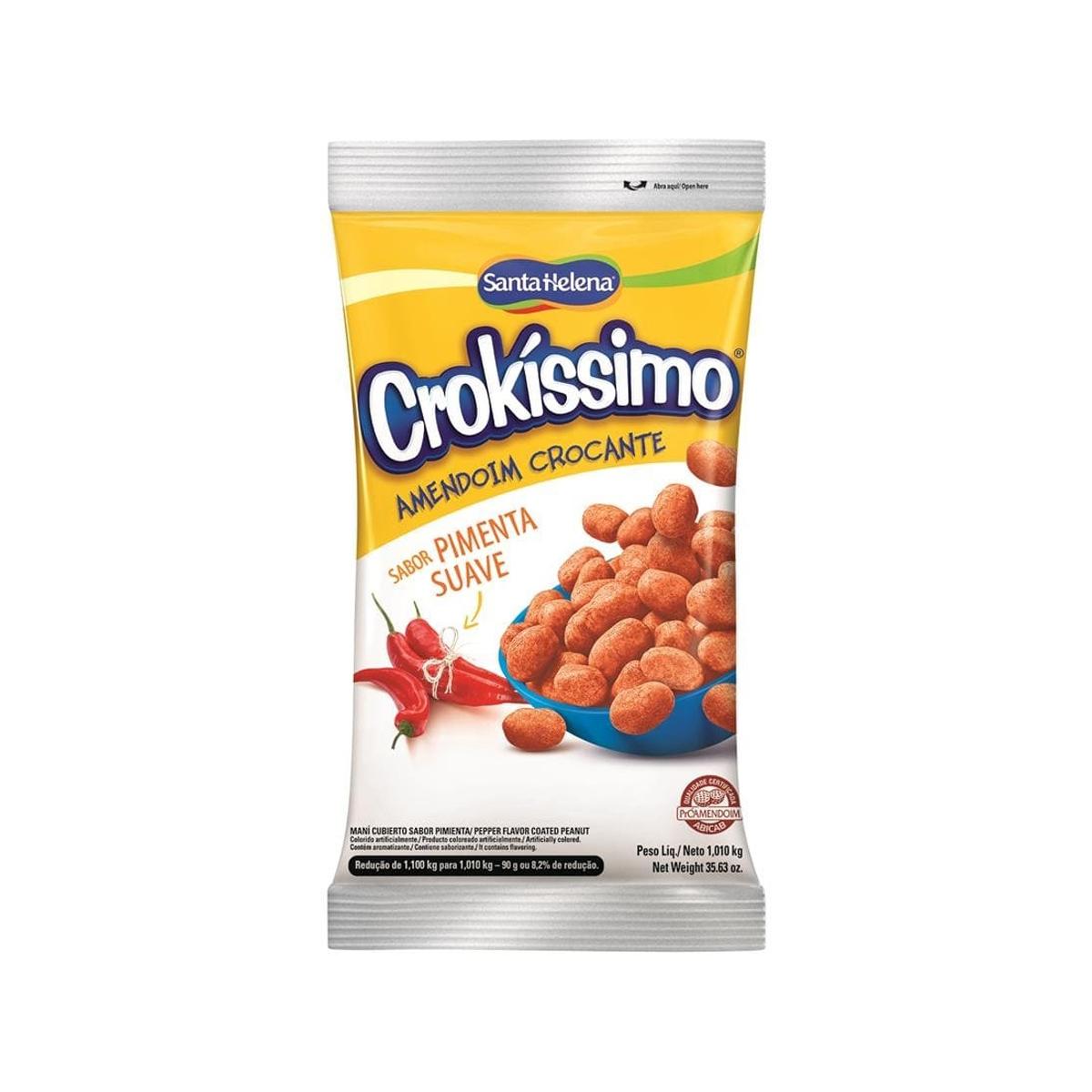 Amendoim Crocante Pimenta Suave Crokíssimo 1,01kg - Santa Helena