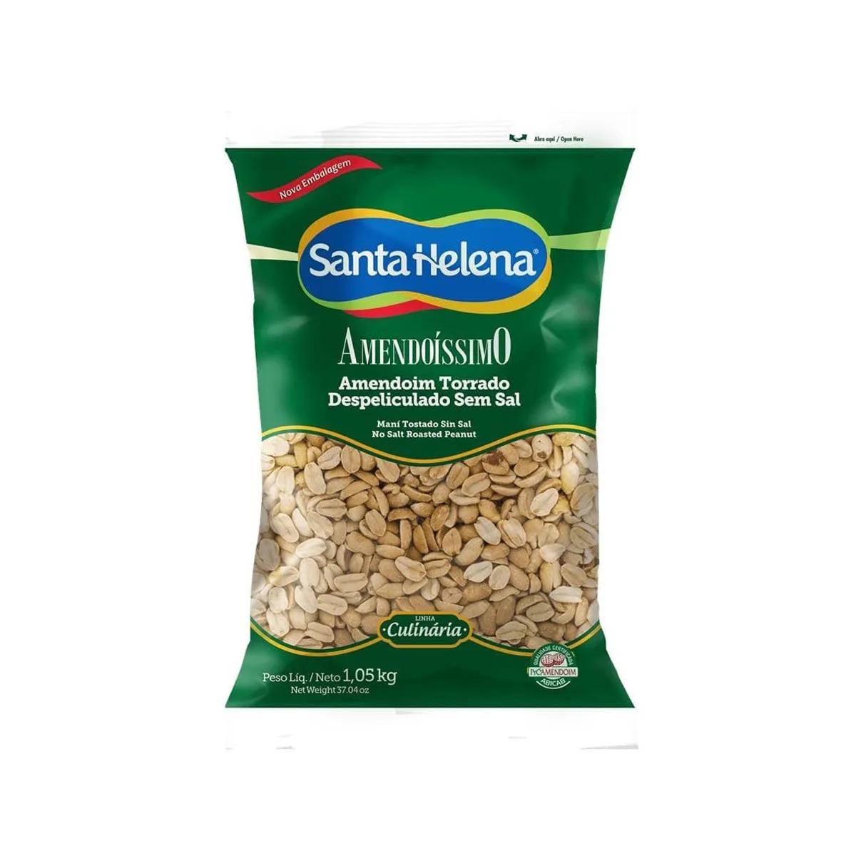 Amendoim Torrado Despeliculado Sem Sal Amendoíssimo 1,05kg - Santa Helena