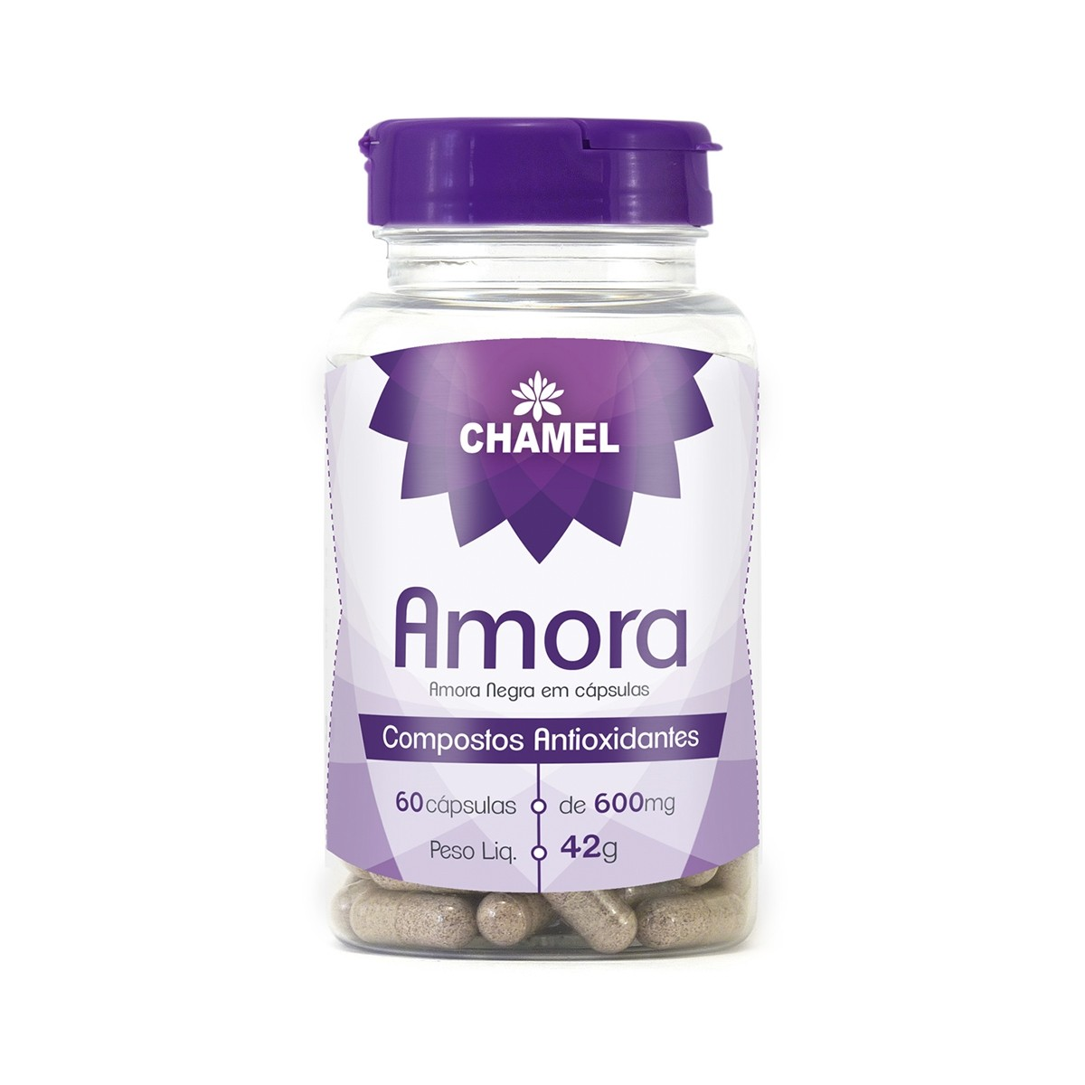 Amora 600mg 60 Cápsulas - Chamel