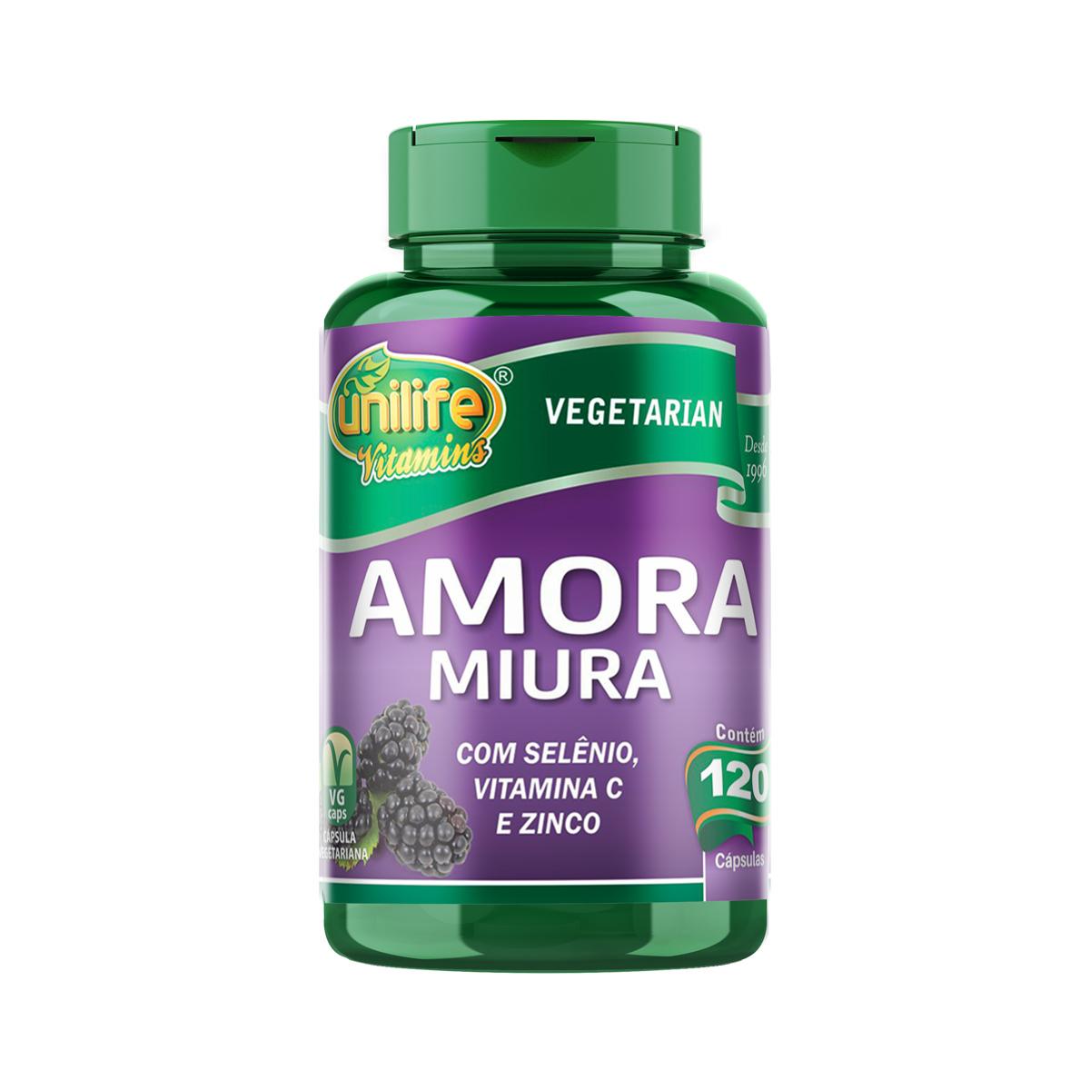 Amora Miúra 500mg 120 Cápsulas - Unilife