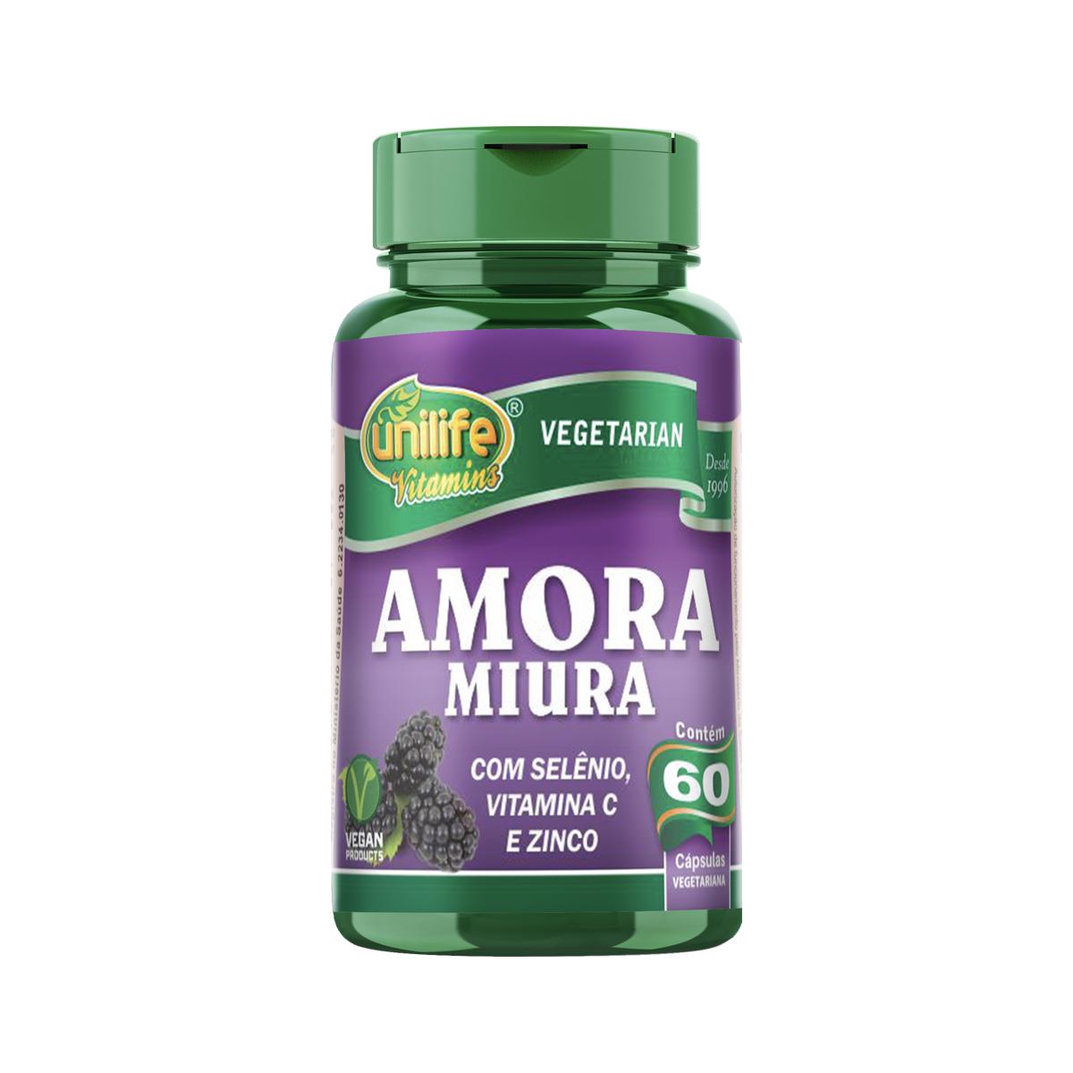Amora Miúra 500mg 60 Cápsulas - Unilife