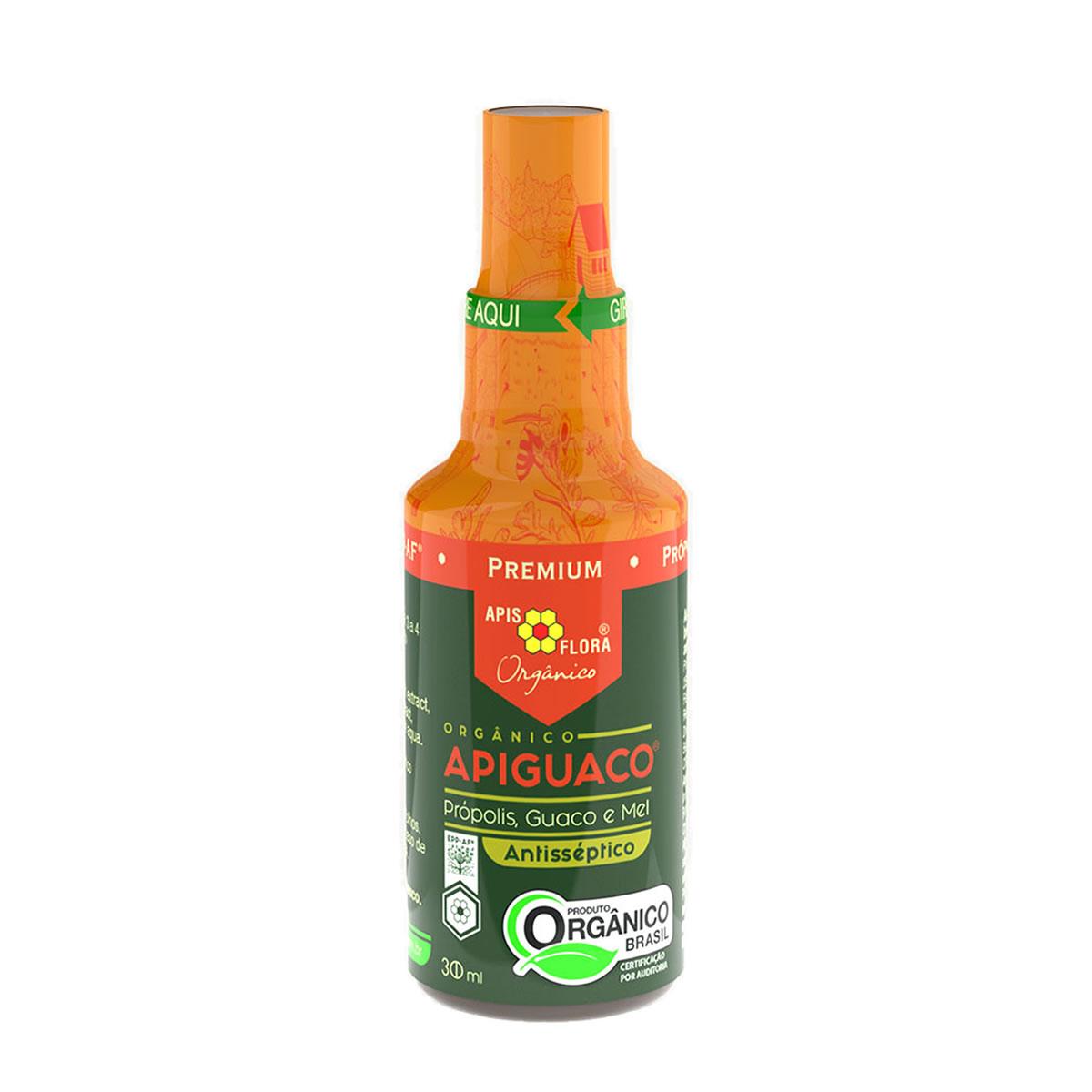 Apiguaco Orgânico Spray Sabor Própolis, Guaco e Mel 30ml - Apis Flora