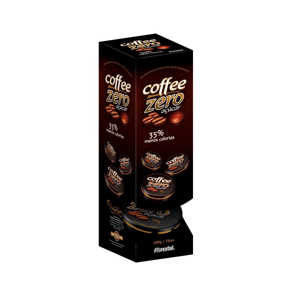 Bala Coffee Zero Lata com 10 unidades de 20g- Florestal