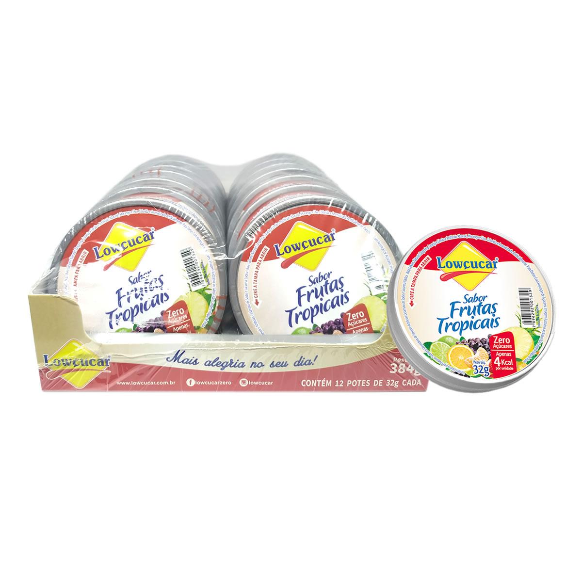 Bala Sabor Frutas Tropicais Diet Display com 12un de 32g - Lowçucar