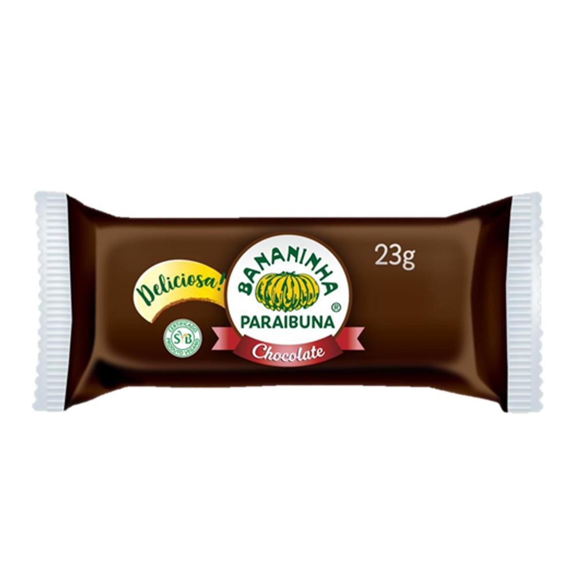 Bananinha com Chocolate 23g - Bananinha Paraibuna