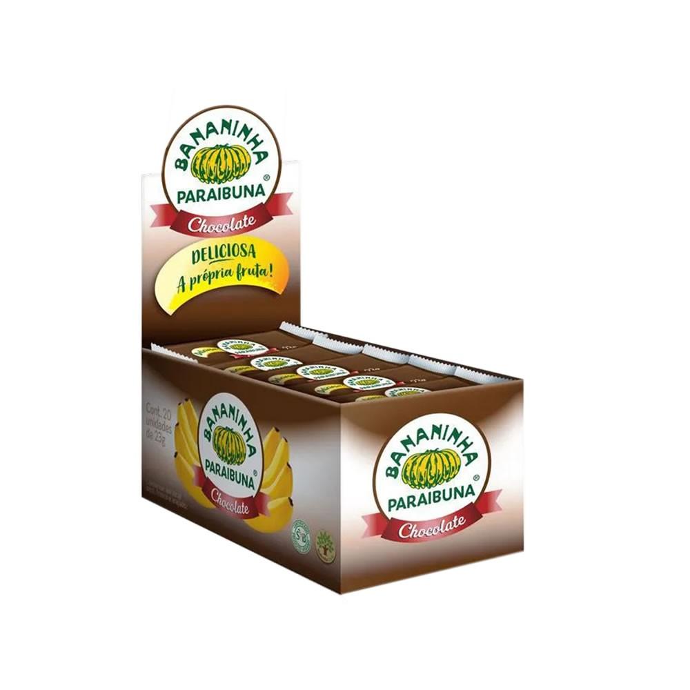 Bananinha com Chocolate Display com 20 un. de 23g - Bananinha Paraibuna