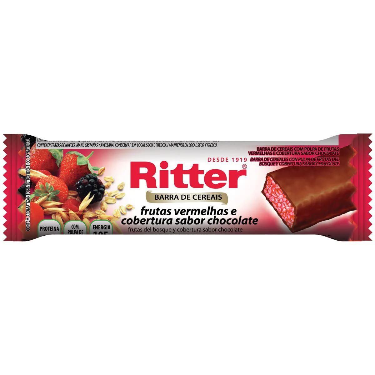 Barra de Cereal Frutas Vermelhas com Chocolate 25g - Ritter