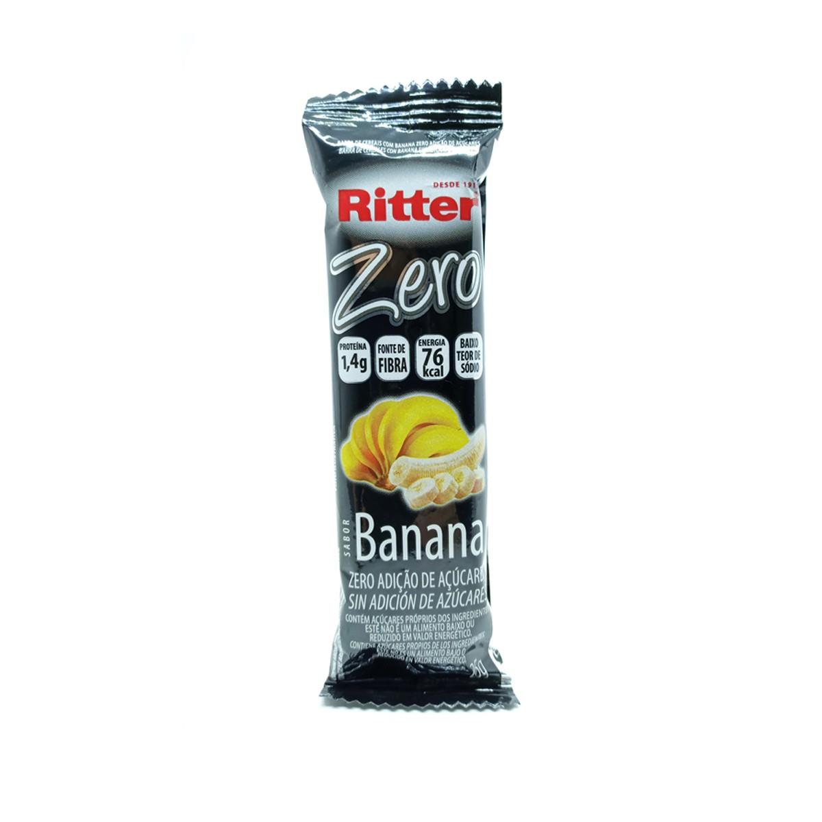 Barra de Cereal Zero de Banana 25g - Ritter