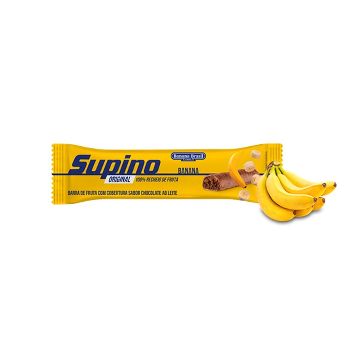 Barra de Fruta Supino com Chocolate ao Leite 24g  - Banana Brasil