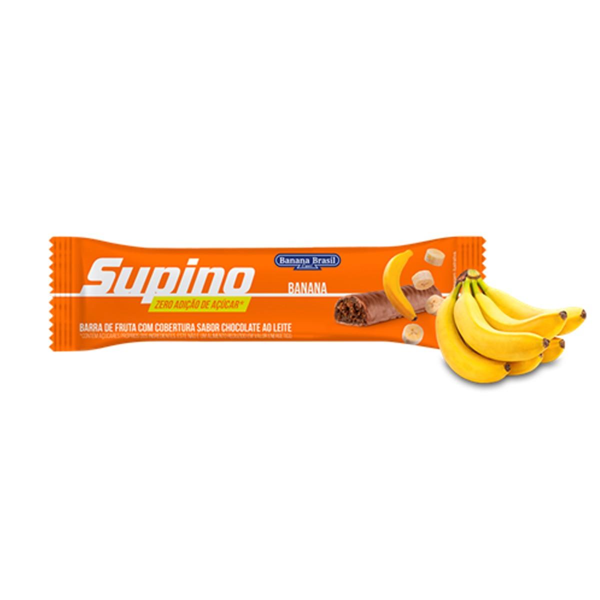 Barra de Fruta Supino Zero Banana e Chocolate 24g  - Banana Brasil