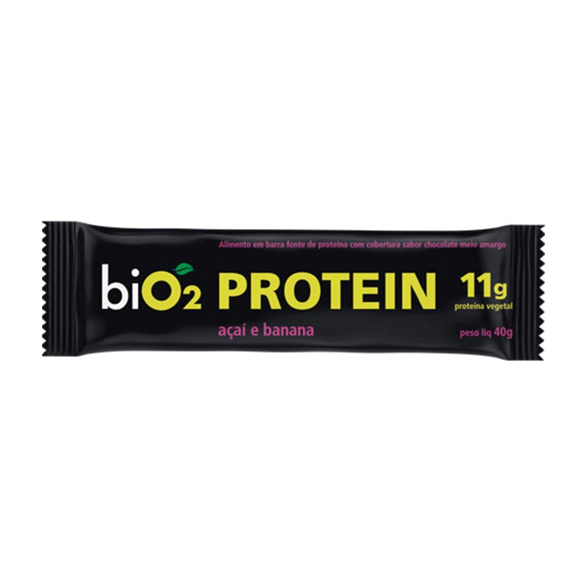 Barra de Proteína Açaí, Banana e Pasta de Amendoim display com 12 un. de 45g - Bio2