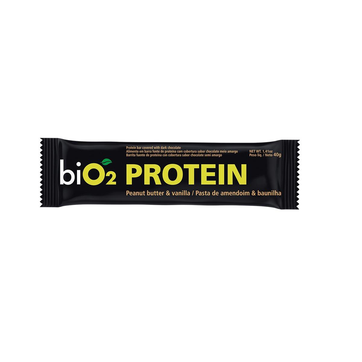 Barra de Proteína Baunilha e Pasta de Amendoim 40g - Bio2