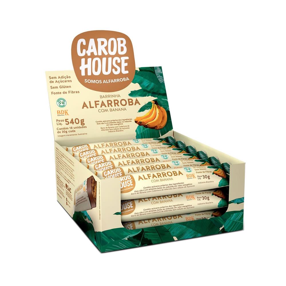 Barrinha de Alfarroba com Banana Display com 18 unidades de 30g - Carob House