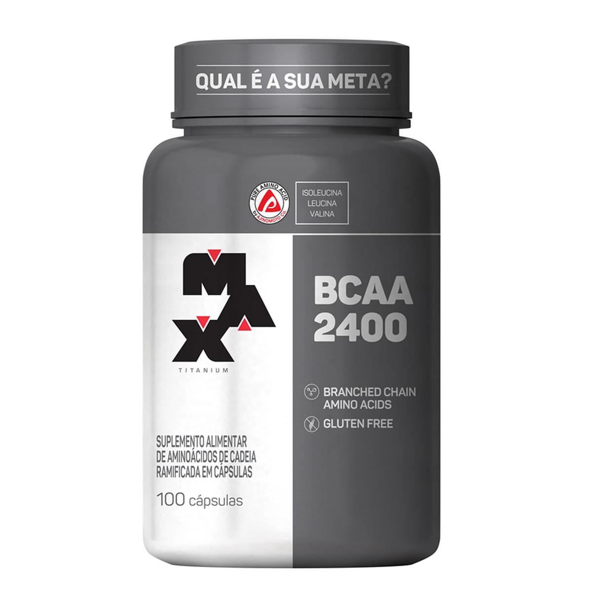BCAA 600mg 100 cápsulas - Max Titanium