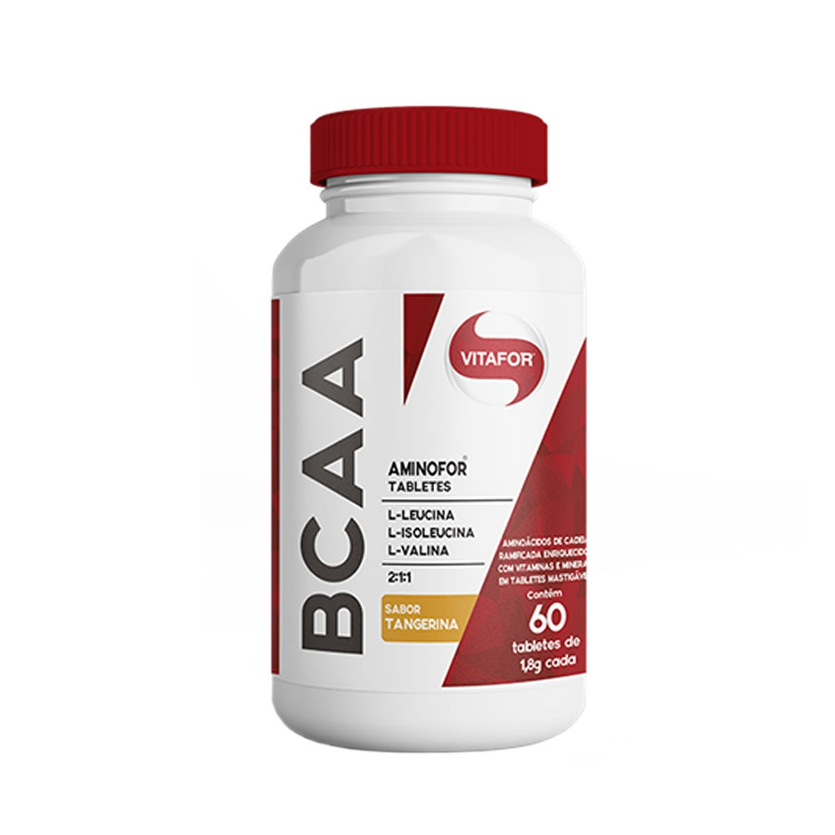 BCAA Aminofor Sabor Tangerina 1800mg 60 Tabletes - Vitafor