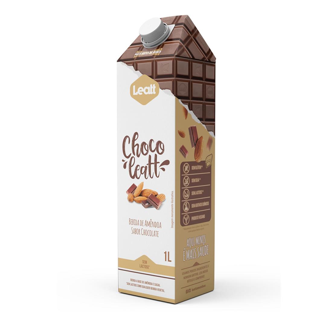 Bebida de Amêndoa Sabor Chocolate 1L - Leatt