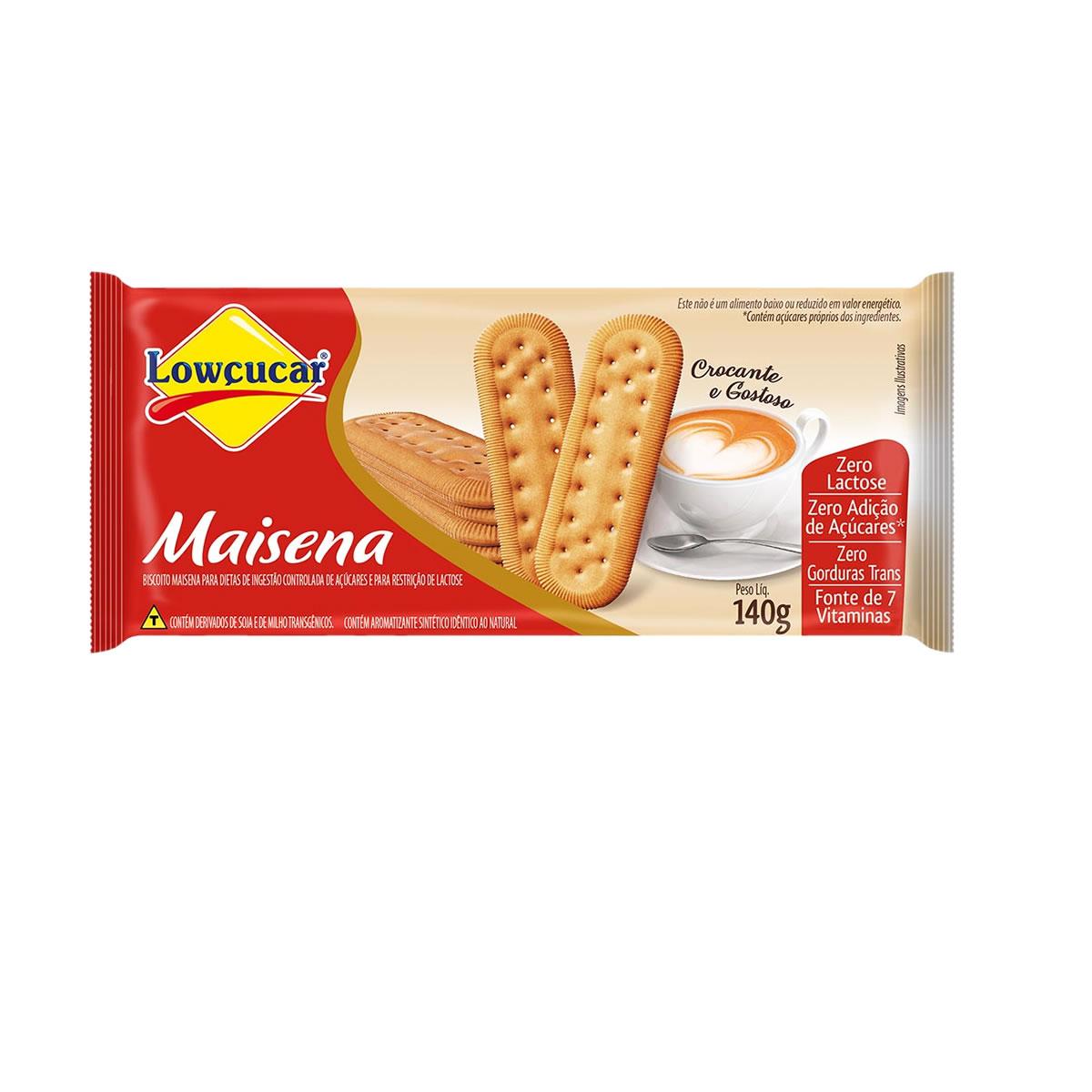 Biscoito de Maisena Zero Lactose 140g - Lowçucar