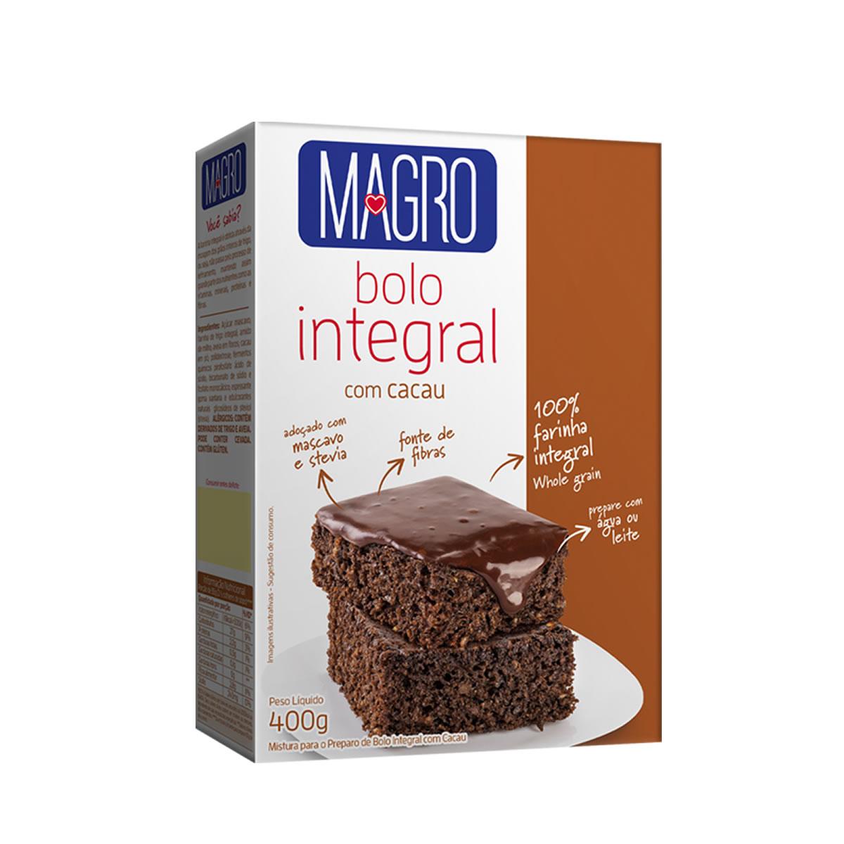 Bolo Integral com Cacau 400g - Magro