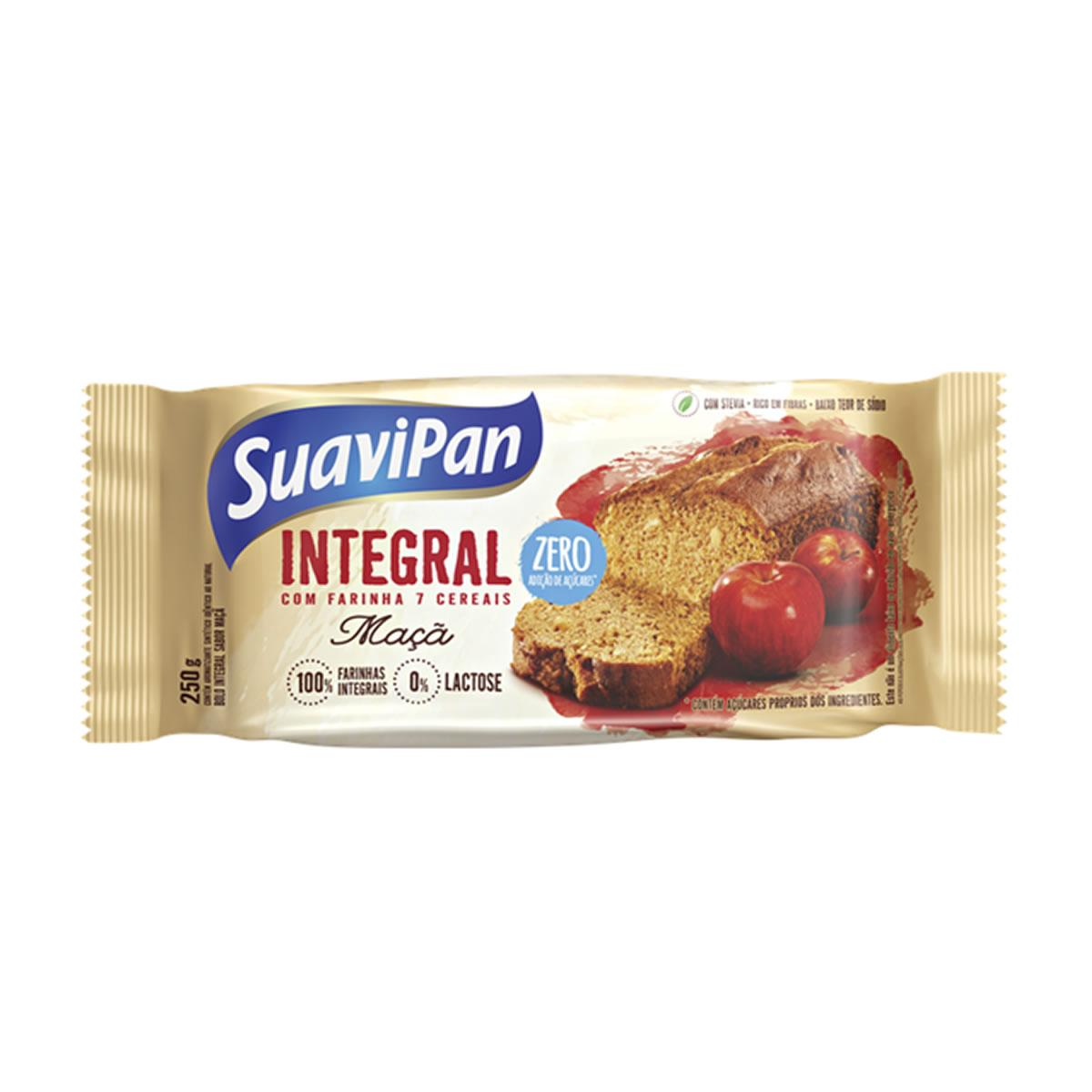 Bolo Integral Zero Açúcar Sabor Maça 250g - Suavipan