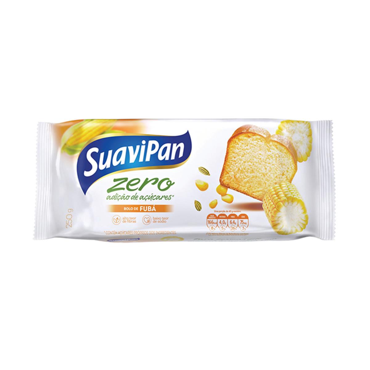 Bolo Zero Adição de Açúcares Sabor Fubá 250g - Suavipan