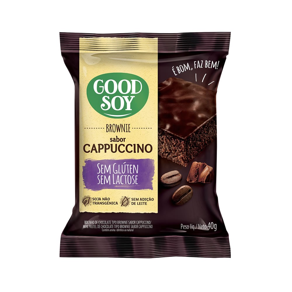 Brownie Sem Glúten Cappuccino 40g - Good Soy