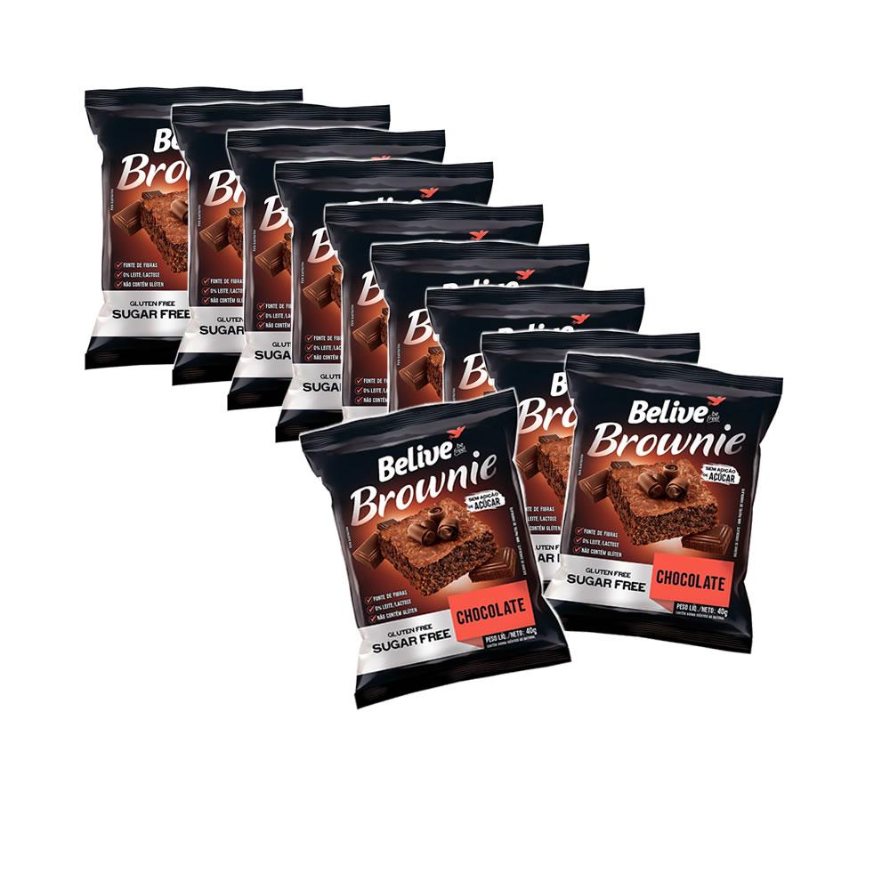 Brownie Sem Glúten e Sem Açucar Chocolate com 10 unidades de 40g - Belive