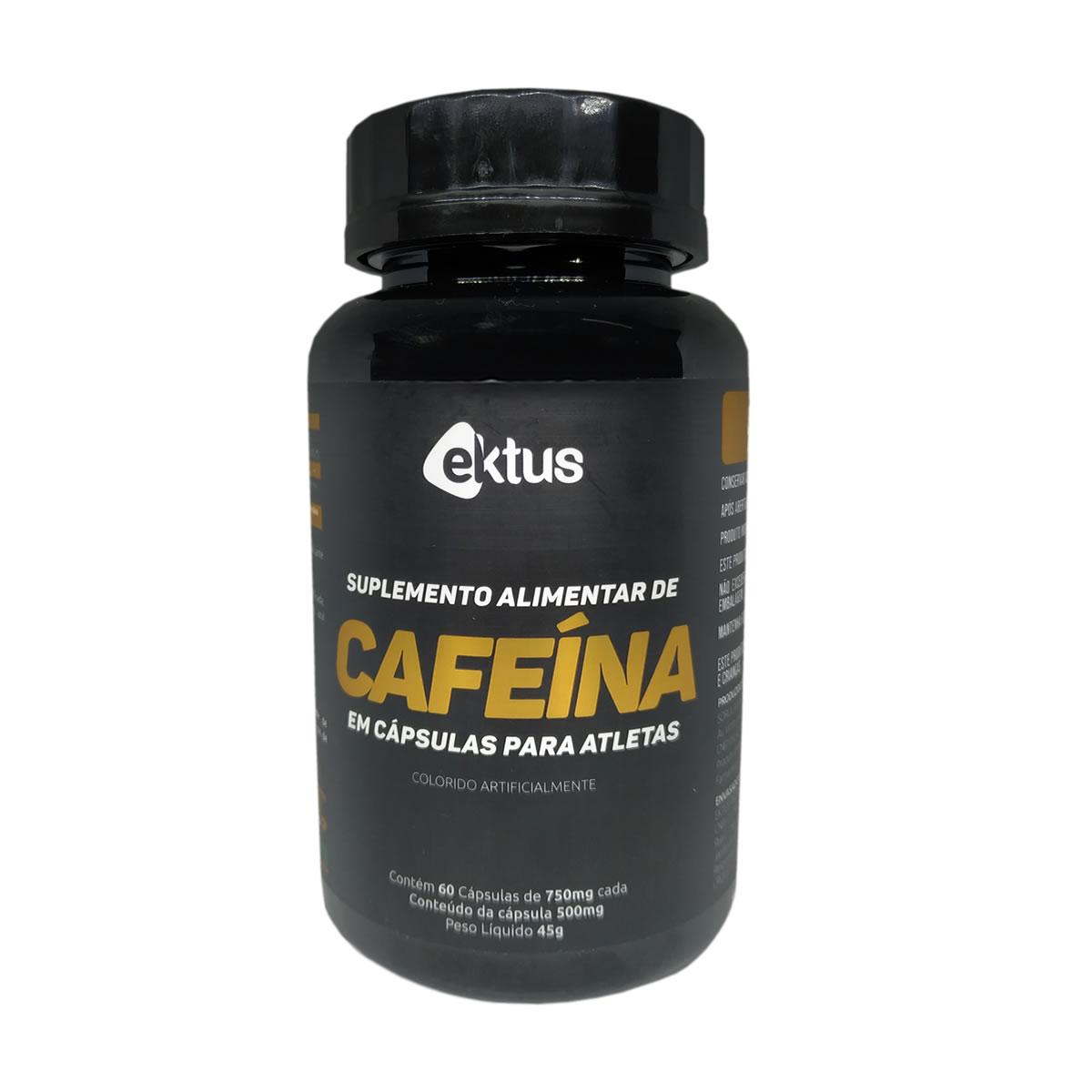 Cafeína 500mg com 60 cápsulas - Ektus