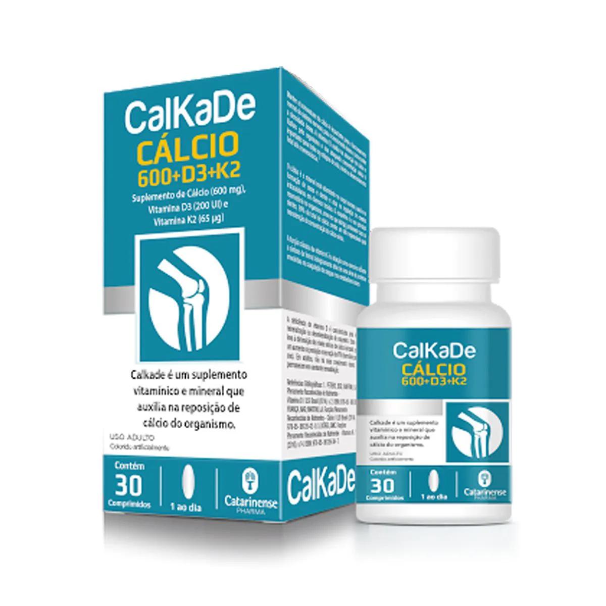 Calkade 600mg 30 Cápsulas - Catarinense
