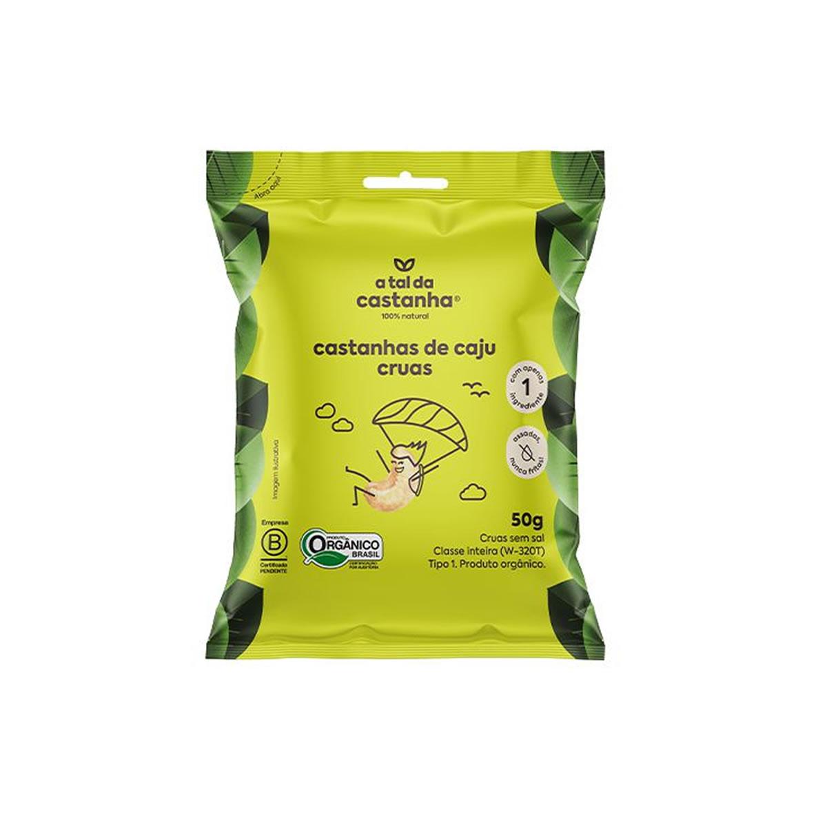 Castanha de Caju Crua Sem Sal Orgânico 50g  - A Tal da Castanha