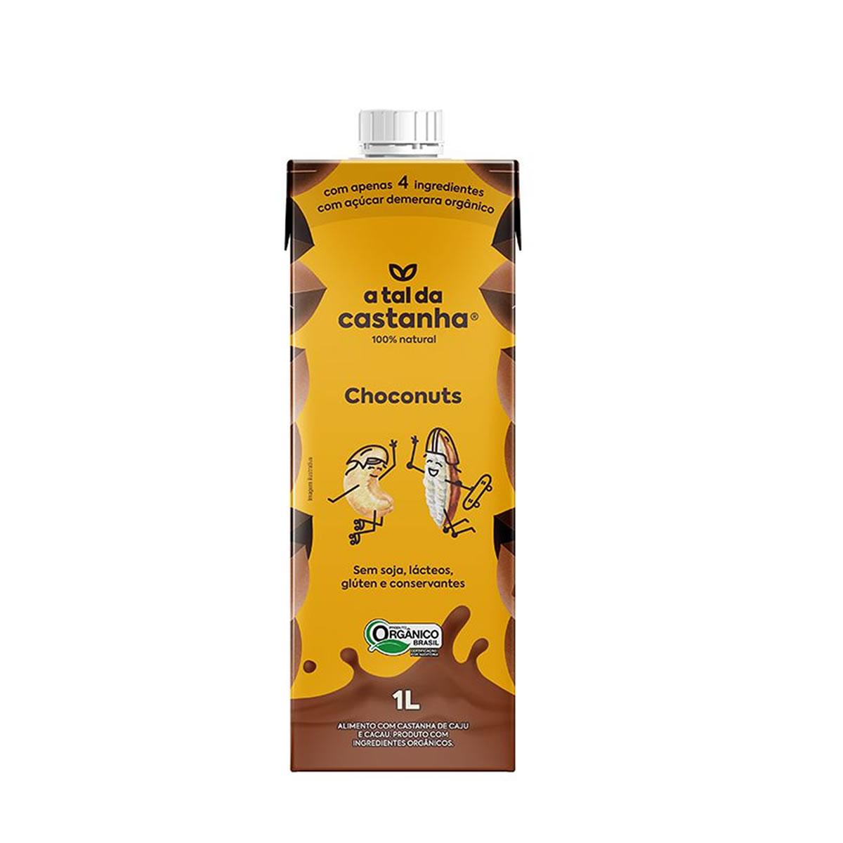Castanha de Caju e Cacau Choconuts Orgânico 1L  - A Tal da Castanha