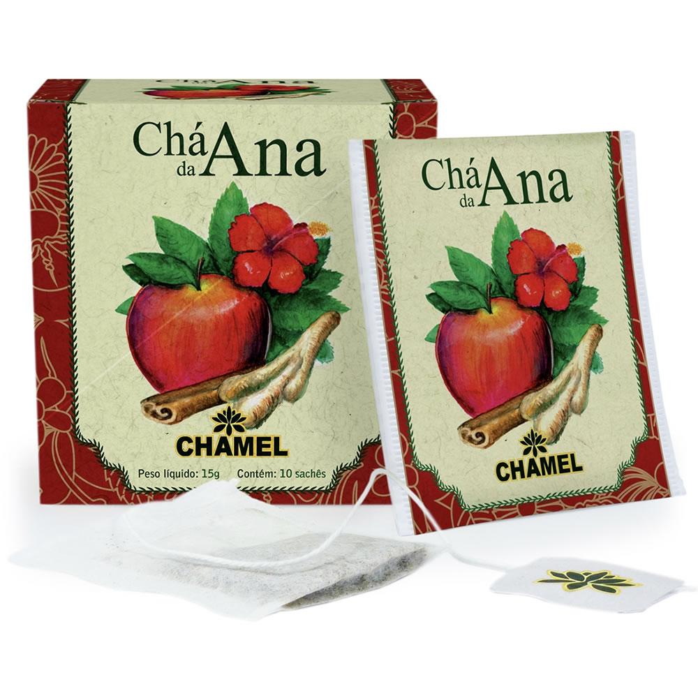 Chá da Ana (Maçã, Hibiscus, Gengibre e Canela) com 10 Sachês - Chamel