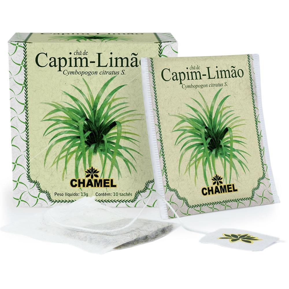 Chá de Capim Limão com 10 Sachês - Chamel